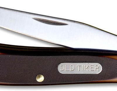 Old Timer Knives: Gunstock Trapper Lockblade Old Timer Knife, SC-194OT
