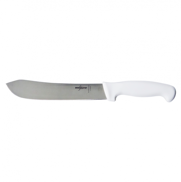 SICUT Butchers Knife – 8″ Blade with White Handle